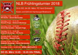 Frühlingsturnier NLB @ Baseballfeld Hard in Embrach